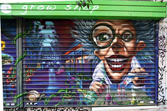 The big smile (Pensive glance) Tags: graffiti image painting wall mur mural streetart artderue