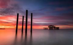 Brighton West Pier Sunrise (E_W_Photo) Tags: brighton pier sunrise derelict sussex structure