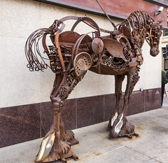2017-09-12_16-13-18 Mechanical Horse (canavart) Tags: calgary alberta canada horsesculpture horse sculpture downtown rusty