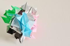 Liguria Kusudama (Byriah Loper) (Byriah Loper) Tags: origami origamimodular modularorigami modular kusudama byriahloper paperfolding paper polyhedron