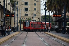 San Diego Trolley (CrispyBassist) Tags: railroad railway train track sandiego santafe california transit trolley mts