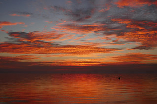 Orange clouds over Lake Pontchartrain
