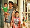 father and sons (the foreign photographer - ฝรั่งถ่) Tags: father three sons mask khlong thanon portraits bangkhen bangkok thailand canon