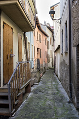 Alley of the village of Varzi in Oltrepò pavese - province of Pavia - Lombardy - Italy (PascalBo) Tags: nikon d500 europe italia italie italy lombardy lombardia lombardie pavia pavie varzi building architecture outdoor outdoors facade oltrepòpavese street rue alley pascalboegli