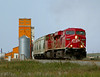 Morse SK Monday August 10th 2009 1118CST (Hoopy2342) Tags: train rail railroad railway morse sask saskatchewan canadianpacific canadianpacificrailway grain elevator