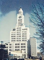 Philadelphia Pennsylvania-  The Inquirer Building with Clock Tower  - HIstoric (Onasill ~ Bill Badzo) Tags: philadelphia pennsylvania pa inquirer building elverson aka white tower old clock n broad st newspaper 1924 dailynews publisher colonel attraction site observation deck closed onasill nrhp historic register landmark whitetower