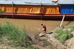man fishing by the Mekong River (_gem_) Tags: travel luangprabang laos asia southeastasia rural countryside nature country people mekong river mekongriver water fishing