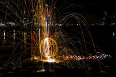 171202 3301 (steeljam) Tags: steeljam nikon d800 lightpainters wire woll spinning o2 isle dogs beach long exposure