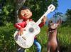 Miguel's guitar technique? (thinduck42) Tags: coco miguel dante guitar dog statue animation movie disney pixar disneyland disneycaliforniaadventure panasonic fz1000