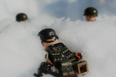 Dreaming Of A White Christmas (sopwith_the_camel1) Tags: garden market belgium ww1 airborne 101stairborne bastogne mp40 wwii ww2 lego legoww2 whitechristmas whitw christmas snow