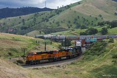 BNSF Intermodal Train at Bealville (Patrick Dirden) Tags: bnsf7932 es44c4 gevo ge generalelectric diesel locomotive engine rail railroad train freighttrain freight cargo intermodal bnsf bnsfrailroad bnsfrailway burlingtonnorthernsantaferailroad burlingtonnorthernsantafe upmojavesubdivision bealvilleca kerncounty tehachapipass tehachapimountains tehachapi southerncalifornia california