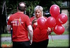 Study in red (* RICHARD M (6.5+ MILLION VIEWS)) Tags: street candid portraits portraiture streetportraits streetportraiture candidportraits candidportraiture santanderbank salespromotions bankstaff balloons redshirts blonde mobilephones cellphones summer summertime july liverpool merseyside liverpudlians scousers scouse maritimemercantilecity europeancapitalofculture capitalofculture unescomaritimemercantilecity texting redballoons