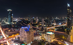 Bangkok at Night (mephistofales) Tags: bangkok thailand siam nightphotography lowlight longexposure urban city skyline panor sky water river