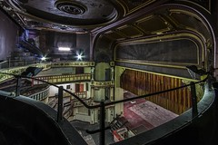 The Gallery (Robert Hannah) Tags: abandoned decay theatre red bingo manchester salford play cinema urban explore urbex light stage ornate longexposure old past