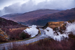 The Jacobite Steam Train (Livia Lazar) Tags: scotland jacobite steamtrain steam harrypotter hogwards hogwardsexpress underground road church mountains