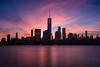 Manhattan Sunrise (mikeSF_) Tags: usa new york newyorkcity city cityscape skyline night longexposure hudson river exchangeplace oneworldtrade worldtrade battery park ferry sunrise sunset mikeoriaphotography wwwmikeoriacom oria pentax k3ii da21