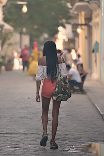 Beautiful girl in Havana.