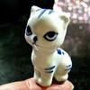 of course i have a *tiny* blue and white ceramic kitty (muffett68 ☺ heidi ☺) Tags: ceramic cat blueandwhite hmm alternate fingertip