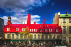 Auberge Du Tresor (Kev Walker ¦ 7 Million Views..Thank You) Tags: architecture building canon1855mm canon700d châteaufrontenac clouds digitalart hdr historic postprocessing queenmary2 québec saintlawrenceriver vieuxport
