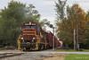 IBCX 814 @ Hanna, IN (Michael Polk) Tags: chesapeake indiana railroad boxcar company freight train wade tower la crosse hanna searchlight signal qn co monon
