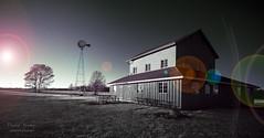 IMG_4554 Sunset Barn - Kennekuk Cove County Park (davidyouhas) Tags: kennekukcovecountypark danville illinois ir infrared barn sunset