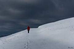 Walking in the snow (Frédéric Pactat) Tags: nikon d750 d 750 afs nikkor fx 2470mm f28g ed 2470 24 70 f28 28 winter snow hiver neige montagne mountains alps alpes landscape dark sky clouds walking semnoz annecy haute savoie