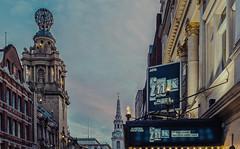 Martins Lane (Central London) (Cross Process Effect) (Fujifilm X100F) (markdbaynham) Tags: london londonist central centrallondon londoner westminster capital city urban metropolis street fuji fujiuk fujix transx fujifilm x100f prime 23mm f2 fujinon fixedlens crossprocess skyline stmartinslane