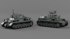 Medium Tank T.5 Mk.II (Lego Pilot) Tags: lego ldd blender achtfaden wwii tank mediumtank sdkfz1651 t5