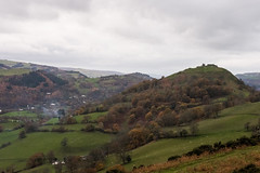 A scenic drive (Panorama Road, Llangollen) (Jen Ma) Tags: autumn season red leaves country trevor basin llangollen north wales panorama drive road minor castell dinas bran hilltop smoke afternoon dust walk scenic snowdonia snowdon welsh landscape