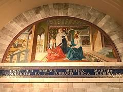 81 - Mozaikfreskó Lázár templomában - Betánia / Freska v Kostole sv. Lazara - Betánia