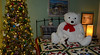 Big Bear, Little Bear (BKHagar *Kim*) Tags: bkhagar holiday christmas bear bears white bow tree christmastree quilt bed friends htbt