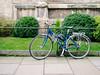 Bicycle 033 (Peter.Bartlett) Tags: vsco olympuspenep3 unitedkingdom city urbanarte bike colour peterbartlett urban yorkshire uk m43 microfourthirds cycle wall lunaphoto kodakportra160emulation fence york england gb