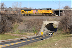 UP 8885 (Justin Hardecopf) Tags: up unionpacific 8885 emd sd70ah sd70ace coal 50th street tunnel omaha nebraska railroad train