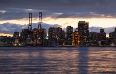 East Vancouver (Clayton Perry Photoworks) Tags: vancouver bc canada northvancouver explorebc explorecanada dock burrarddrydock skyline city night lights