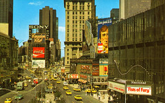 Times Square, New York City, New York (Thomas Hawk) Tags: america bonds canadianclub castro cocacola fistsoffury hitler newyork newyorkcity sony timessquare usa unitedstates unitedstatesofamerica vintage winston advertising billboard cigarette neon postcard taxes fav10 fav25