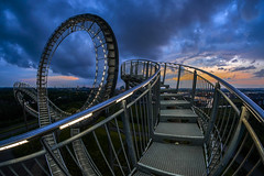 blue loop (Blende1.8) Tags: tigerturtle tigerandturtle tiger turtle landmark ruhrgebiet ruhrarea deutschland germany loop looping roller carstenheyer sony alpha ilce6300 fisheye fischauge ultraweitwinkel curvy curves a6300 walimex 8mm