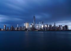 Gotham City (joko2190) Tags: nyc new york city gotham smooth reflection skyline night photography hudson river sel1670z variotessar16704za