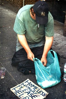 homeless man, new york city, 2003.