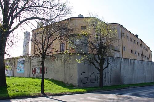 Dawne więzienie w Łęczycy od południowego wschodu