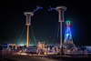 Burning Man 2017 (yannha) Tags: travel festival event burning man bm outdoor desert playa brc tower structure artinstallation camp sextant teslacoils night sparks electricity sigma35mm14art lights