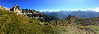 Panorama southern Rosengartengruppe / Catinaccio and Val di Fassa