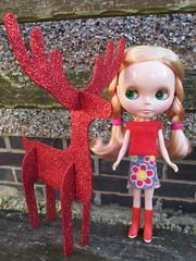 Doll & Bear ABC Christmas Challenge ; R (blythegran) Tags: woollyrockers reindeer blythe