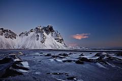 Vestrahorn (LalliSig) Tags: iceland landscape canon 5dsr winter snow ice cold twilight vestrahorn mountain polarizer black sand