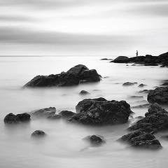 Rocks-and-waves. (pattana92392) Tags: seawave sea longexposure coast water fineart stone blackwhite