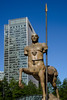The Centurion (Chris Hamilton Photography) Tags: canarywharf d600 urban centurion warrior flickr street mythical blue nikon sculpture