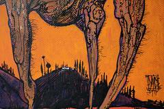 beast and rabbit (mc1984) Tags: mc1984 rabbit beast orange posca night 2017 ink poil