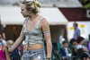 Laced up (yowser85) Tags: festivals girl woman braless cuttoffs