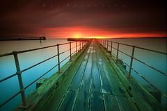 Walk the Plank (Stu Patterson) Tags: stu patterson sunrise seascape northumberland blyth pier