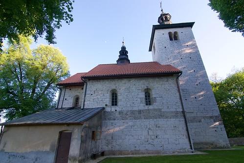 Kościół św. Mikołaja w Wysocicach od północy