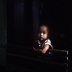 Thai Baby (dennisvanderlindenpics) Tags: 80mm child face portrait chiangmai thailand portra kodak 500cm hasselblad